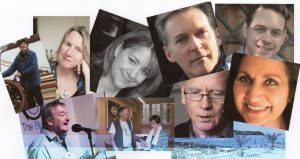 Some of the poets appearing at this year's Festival, plus the view from the hotel terrace!